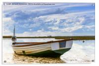 Small Craft on the high tide, Acrylic Print
