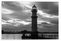 Newhaven Harbour Edinburgh At Night, Acrylic Print