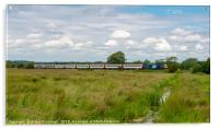 Class 68 Locomotive and Greater Anglia Coaches, Acrylic Print