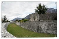 The city walls in Venzone, Acrylic Print