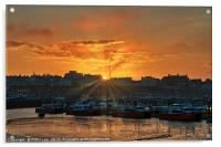 Sunset Ramsgate Harbour, Acrylic Print