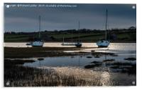 Winter Moorings, Alnmouth Harbour, Northumberland, Acrylic Print