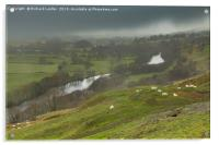 Bright Interval on a Wet Day in Teesdale, Acrylic Print
