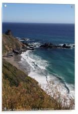 Gorgeous coastal view off Highway 1, Acrylic Print