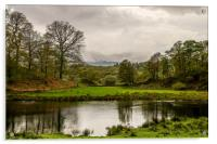 The River Brathay on a Dull Day, Acrylic Print
