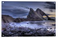 Bow Fiddle Rock Scotland, Acrylic Print