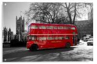 Classic Red Routmaster bus, Acrylic Print