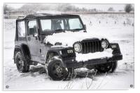 Jeep in the Snow, Acrylic Print