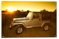 Jeep Wrangler at Sunset, Acrylic Print