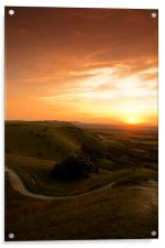 Sunset at Devils Dyke, Sussex, Acrylic Print