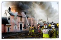 Major Fire in Disused Pub, Acrylic Print