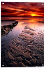 Little Pigeon Creek Sunset at Lake Michigan, Acrylic Print