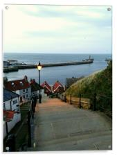 Whitby After Sun Down, Acrylic Print