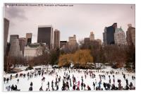 Skaters in Central Park NYC, Acrylic Print