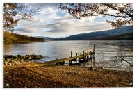 Old Wooden Jetty on Loch Arkaig, Acrylic Print