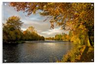 Autumn by the River Ness, Acrylic Print