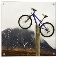 Mountain Biking Glencoe, Acrylic Print