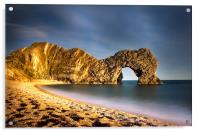 Durdle Door in colour, Acrylic Print