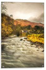 River Eamont, Howtown, Cumbria., Acrylic Print