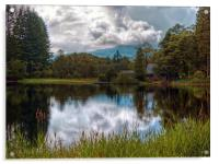 Summer Showers Over Loch Ard, Acrylic Print