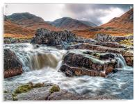 Waterfall On The River Etive, Acrylic Print