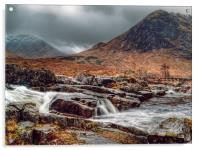 The River Etive Scotland, Acrylic Print
