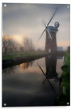 Reflecting on Horsey Mill, Acrylic Print