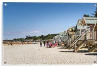 Line of Beach Huts at Wells, Acrylic Print