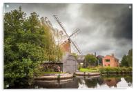 Hunsett Mill on the River Ant, Acrylic Print