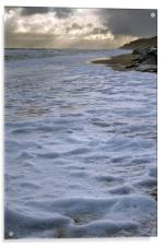 North Sea as snow approaches, Acrylic Print
