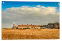 Cley Mill over the fields, Acrylic Print