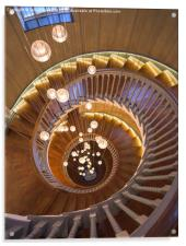 The Spiral Stairs, Acrylic Print