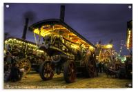 Showmans Engine by night, Acrylic Print