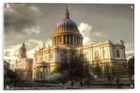 St Pauls Cathedral, Acrylic Print