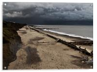 Happisburgh Sea Defences, Acrylic Print
