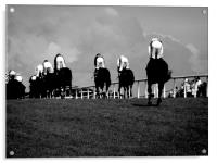 Galway Races home straight, Acrylic Print