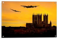 Lancasters over Lincoln, Acrylic Print
