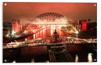 The Tyne on Fire, Acrylic Print