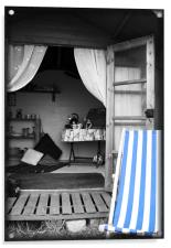 A Home from Home, Vintage View of a Beach Hut, Nor, Acrylic Print