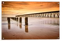 The Old Piers, North Sands, Hartlepool. UK, Acrylic Print