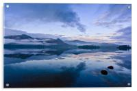 The Cold Light of Day, Derwentwater, Lake District, Acrylic Print