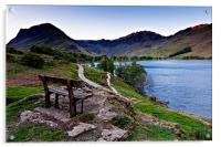 Haystacks & Buttermere View, Cumbria., Acrylic Print