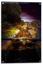 Canal By Moonlight, Acrylic Print