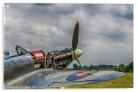 Covers Off Hawker Hurricane, Acrylic Print