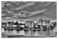 Leeds Castle Black and White 3, Acrylic Print