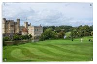 Putting at Leeds Castle Golf Course , Acrylic Print