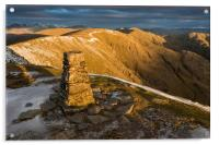 Old Man Of Coniston Summit Sunrise, Acrylic Print