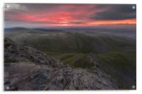 Sharp Edge Sunrise, Acrylic Print