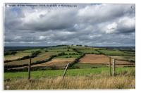 View from Raddon Top, Acrylic Print