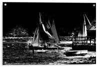 Setting sail #2 In Black And White, Acrylic Print